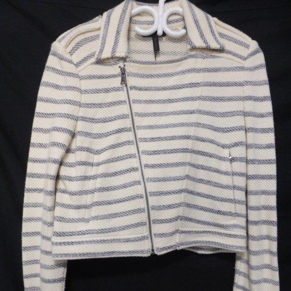 BCBG MAXAZRIA, small, striped zip jacket, BNWT